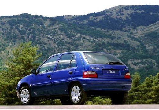 CITROEN Saxo II hatchback niebieski jasny tylny lewy