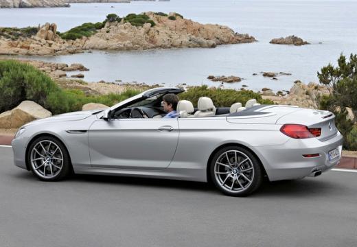 BMW Seria 6 Cabriolet F12 I kabriolet silver grey tylny lewy