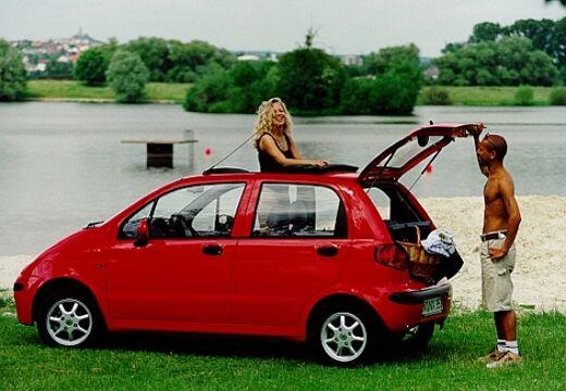 DAEWOO / FSO Matiz FSO hatchback czerwony jasny boczny lewy
