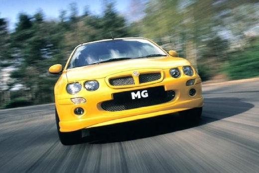 MG ZR hatchback żółty przedni