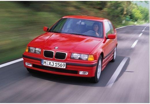 BMW Seria 3 Compact E36 hatchback czerwony jasny przedni lewy