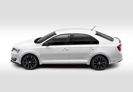 SKODA Rapid Liftback hatchback biały boczny lewy