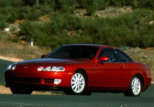 LEXUS SC coupe czerwony jasny przedni lewy
