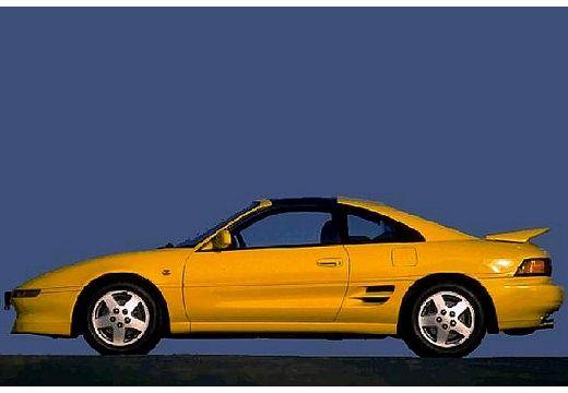 Toyota MR2 coupe żółty boczny lewy