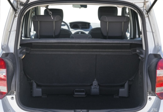RENAULT Modus II hatchback przestrzeń załadunkowa