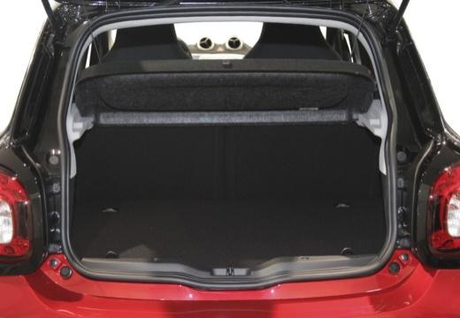 SMART forfour II hatchback czerwony jasny przestrzeń załadunkowa