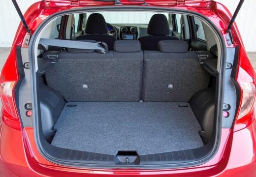 NISSAN Note hatchback przestrzeń załadunkowa