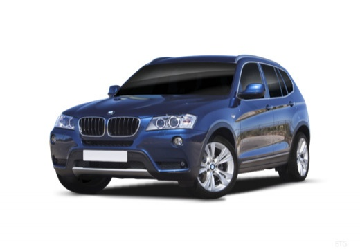 BMW X3 kombi niebieski jasny przedni lewy