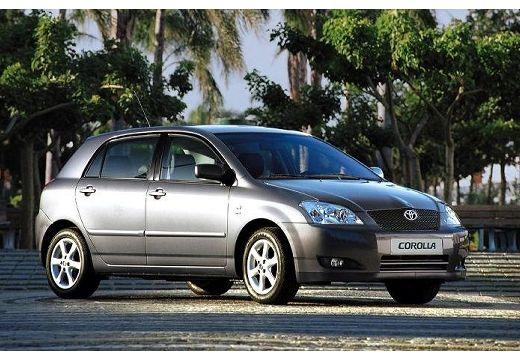 Toyota Corolla VI hatchback czarny przedni prawy