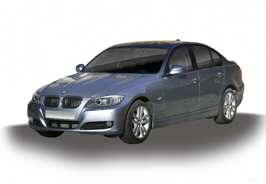 BMW Seria 3 E90 II sedan silver grey