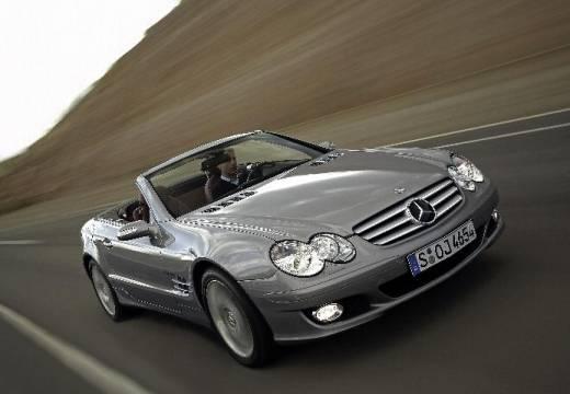 MERCEDES-BENZ Klasa SL roadster silver grey przedni prawy