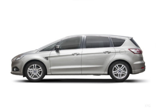 FORD S-MAX van silver grey boczny lewy
