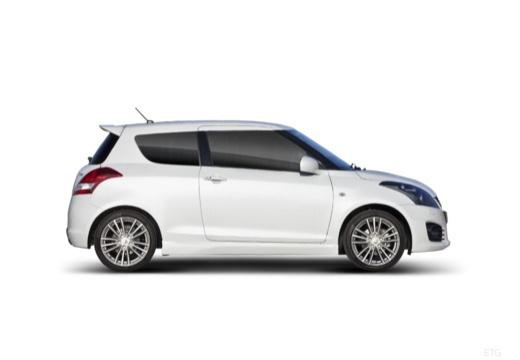 SUZUKI Swift II hatchback biały boczny prawy