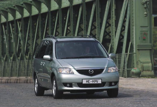 MAZDA MPV III van silver grey przedni prawy