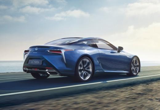 LEXUS LC coupe niebieski jasny tylny prawy