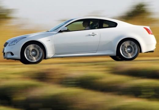 INFINITI G37 coupe biały boczny lewy