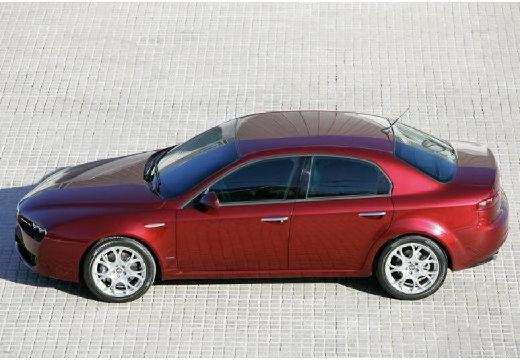 ALFA ROMEO 159 I sedan bordeaux (czerwony ciemny) boczny lewy