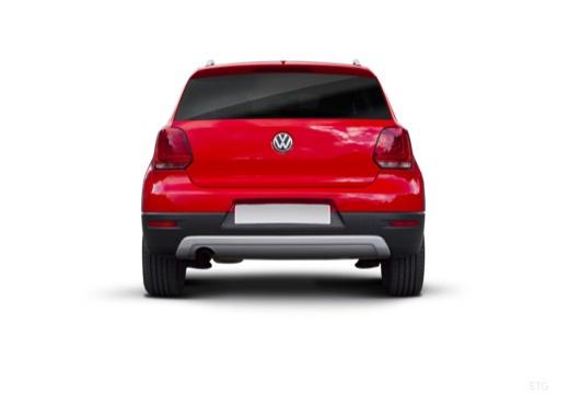 VOLKSWAGEN Polo V I hatchback czerwony jasny tylny