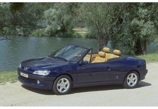 PEUGEOT 306 Cabrio II kabriolet niebieski jasny przedni lewy