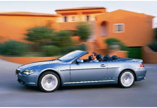 BMW Seria 6 kabriolet niebieski jasny przedni lewy