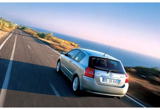 Toyota Corolla VI hatchback silver grey tylny lewy