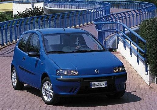 FIAT Punto II I hatchback niebieski jasny przedni prawy