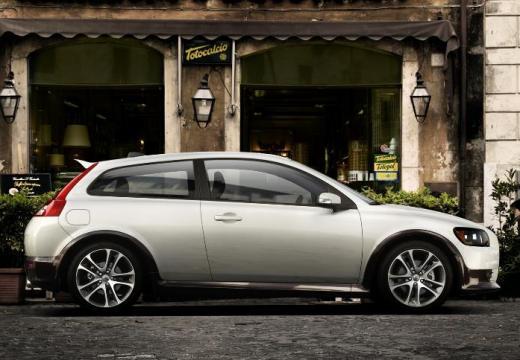 VOLVO C30 I hatchback biały boczny prawy