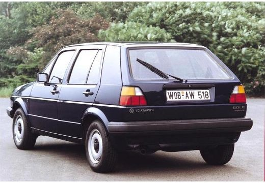 VOLKSWAGEN Golf II hatchback czarny tylny lewy