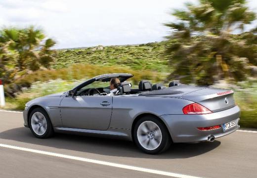 BMW Seria 6 Cabriolet E64 II kabriolet silver grey tylny lewy