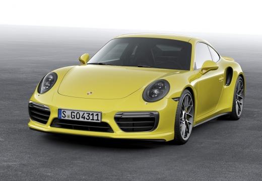 PORSCHE 911 991 II coupe żółty przedni lewy