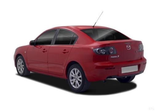 MAZDA 3 II sedan czerwony jasny tylny lewy