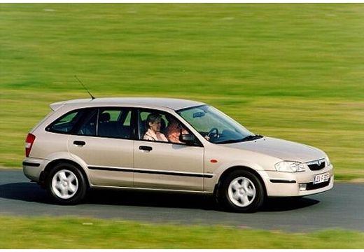 MAZDA 323 hatchback silver grey przedni lewy