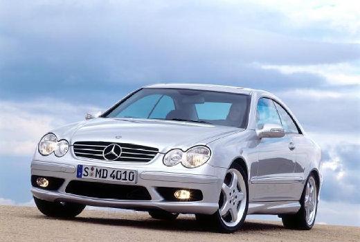 MERCEDES-BENZ Klasa CLK coupe silver grey przedni lewy
