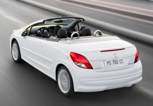 PEUGEOT 207 kabriolet biały tylny lewy