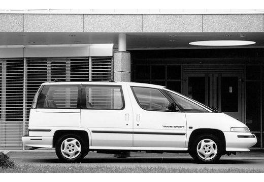 PONTIAC Trans Sport van biały boczny prawy
