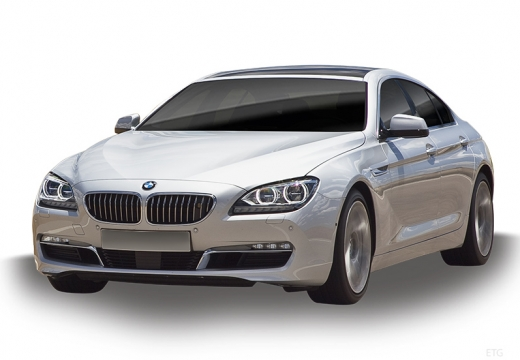 BMW Seria 6 Gran Coupe F06 I sedan silver grey