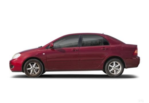 Toyota Corolla VII sedan czerwony jasny boczny lewy