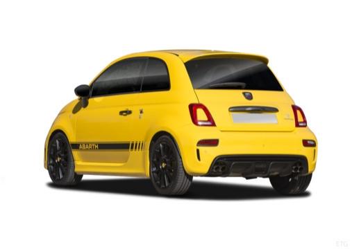 ABARTH 500 hatchback żółty tylny lewy