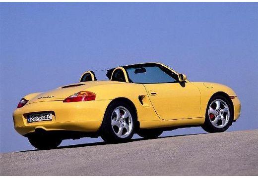 PORSCHE Boxster 986 roadster żółty tylny prawy