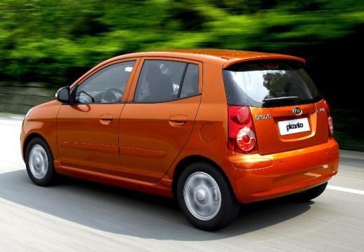 KIA Picanto II hatchback pomarańczowy tylny lewy