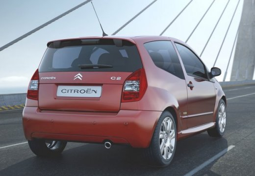 CITROEN C2 hatchback czerwony jasny tylny prawy