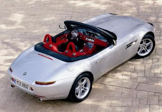 BMW Z8 roadster silver grey верхний задний