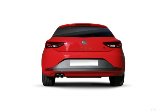 SEAT Leon IV hatchback czerwony jasny tylny