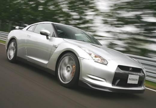 NISSAN GT-R I coupe silver grey przedni prawy
