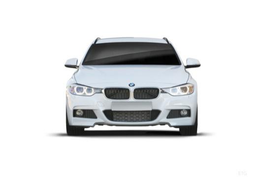 BMW Seria 3 Touring F31 I kombi biały przedni
