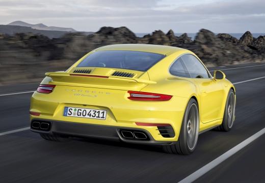 PORSCHE 911 991 II coupe żółty tylny prawy
