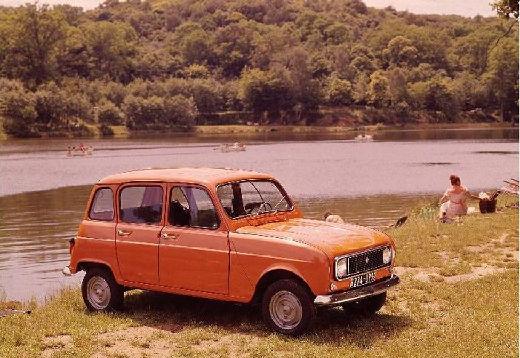 RENAULT R4 hatchback pomarańczowy przedni prawy