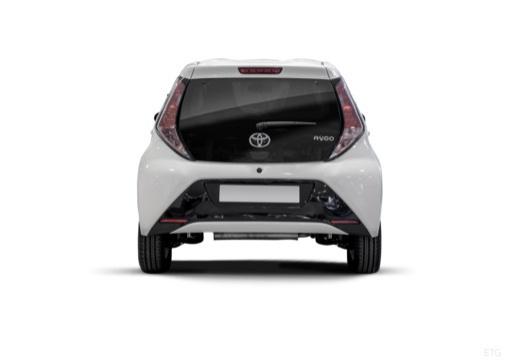 Toyota Aygo IV hatchback biały tylny