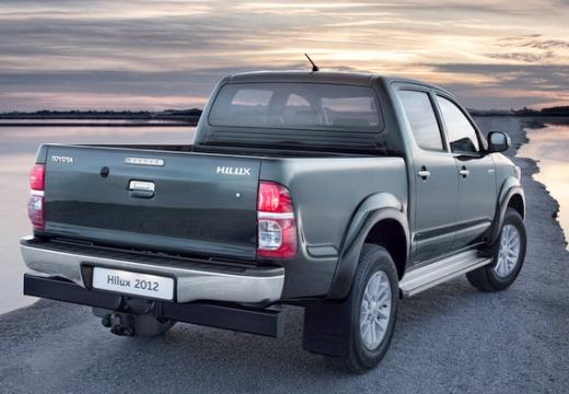 Toyota HiLux pickup szary ciemny tylny prawy