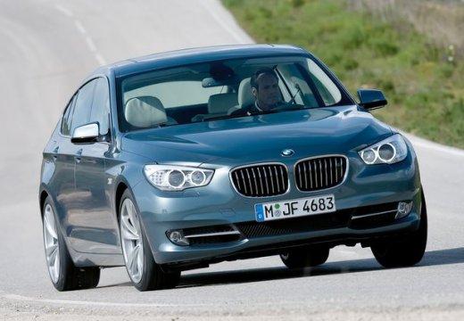 BMW Seria 5 Gran Turismo hatchback niebieski jasny przedni prawy